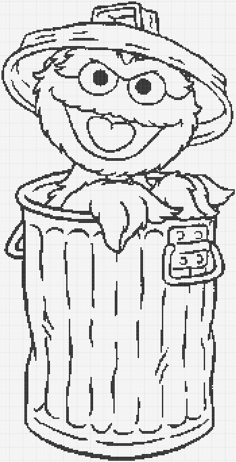 Oscar The Grouch Face Coloring Pages Oscar Coloring Pages