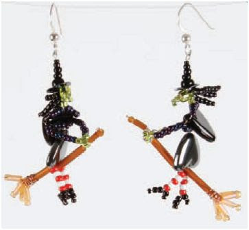 How to Make Beaded Witches for Halloween - The Beading Gem's Journal
