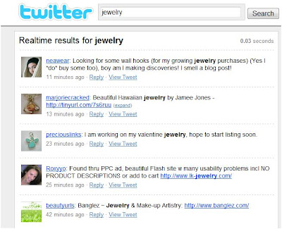 twitter search jewelry