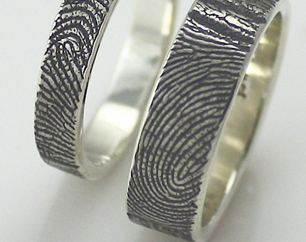 Fingerprint Wedding Rings