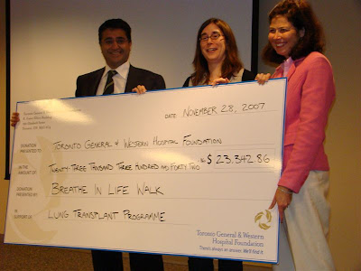 Breathe in Life Walk check presentation