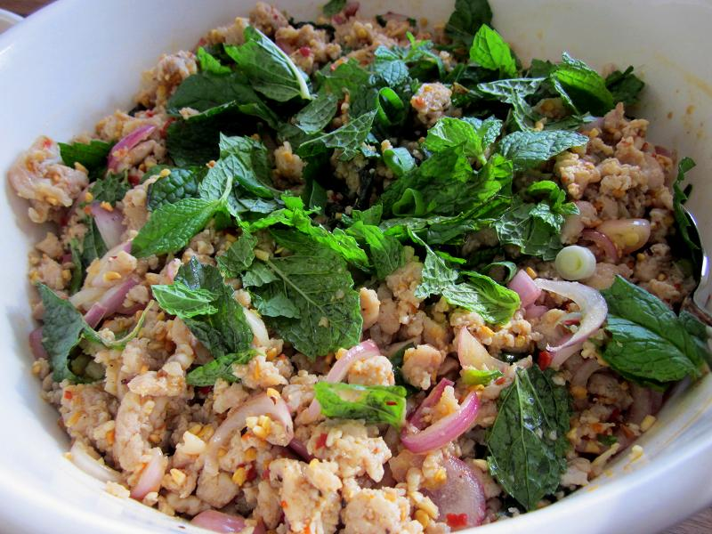 larb in thai word means ground adj when we have this meal in thai we ...