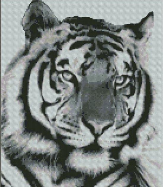 Книги по вышивке крестом тигров