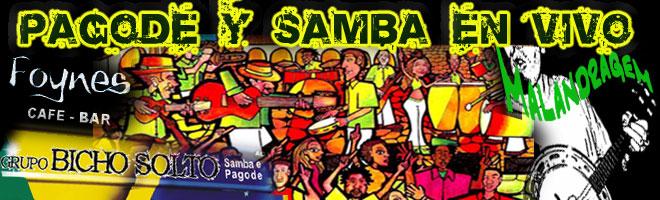 Pagode  y Samba en Vivo