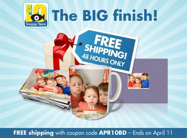 snapfish  free shipping