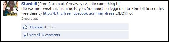 Stardoll facebook giveaways
