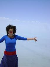 en el Salar de Uyuni, Bolivia