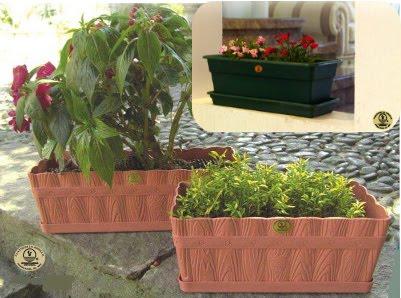 Plasticos la ardilla maceta jardinera for Bases para jardineras