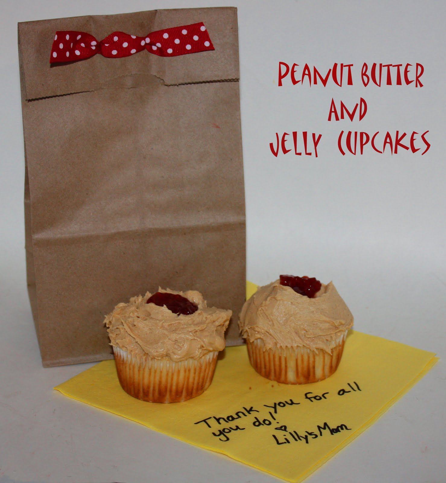 Christy: Back to School: Peanut Butter and Jelly Cupcakes
