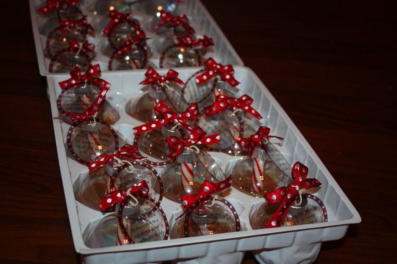 Christy: Homemade Gifts for a Group: Peppermint Mocha Ornaments