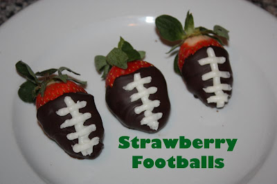 Chocolate Dipped Strawberry Footballs