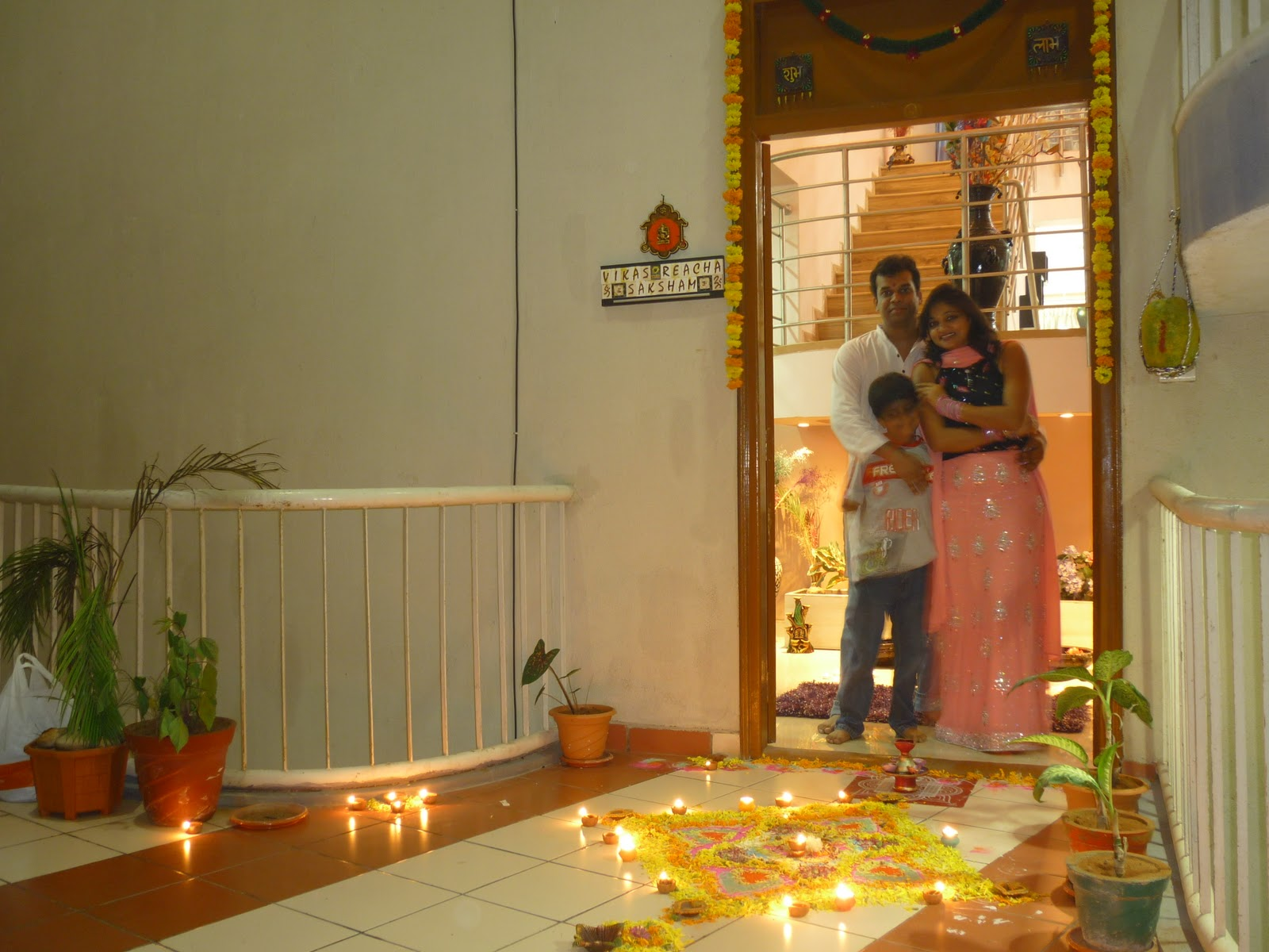 Reacha blogging first diwali in hyderabad new home for Home decorations ideas for diwali