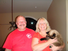 Mark and Vicky with Gizmo