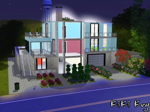 Kiki koy 4 the sims new houses paradiso di pietra for Villa a 3 piani