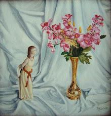 Figurita con florero