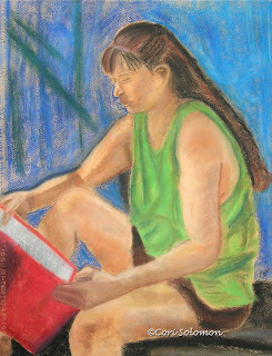 Girl Reading - The Book Worm By Cori Solomon