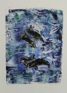 The Deep Sea - Dolphins by Cori Solomon