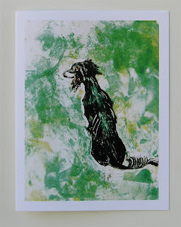 Saluki - Around the Bend Note Cards By Cori Solomon