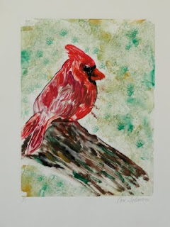 Bird - Cardinal - Rest Stop By Cori Solomon
