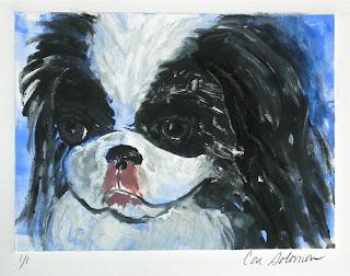 Japanese Chin Dog Art Chin-Wow By Cori Solomon