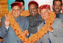 Satya Pal Jain with Prem Kumar Dhumal & Shanta Kumar