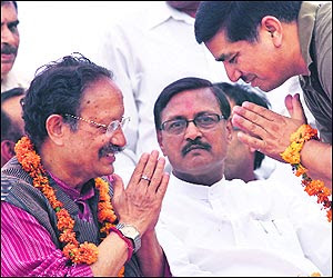 The CM was in the city to garner votes for BJP candidate Satya Pal Jain.