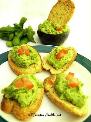 Avocado And Edamame (Soy Bean) Spread On Toast Recipes — Dishmaps