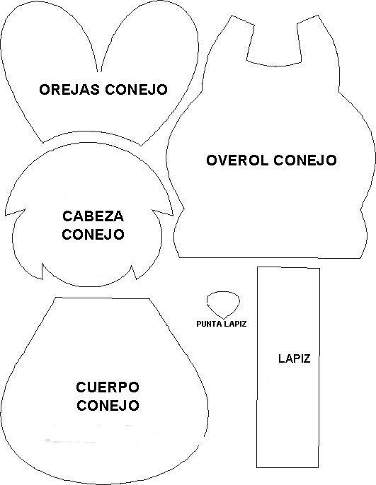 Patrones para hacer figuras de foamy - Imagui