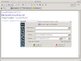 GYachI IM Client Running on Debian Linux Sid