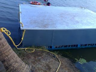 Closer look at floating platform