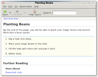 Yelp help window showing planting page