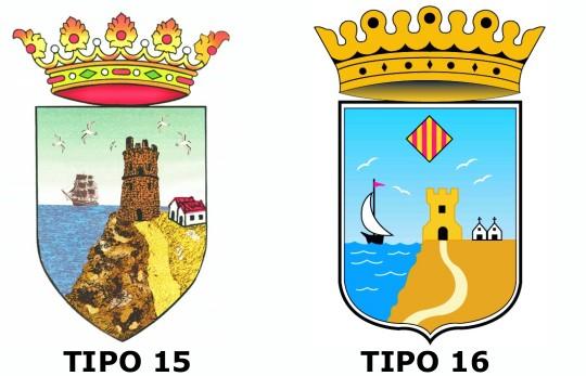 evolución del escudo de Torrevieja