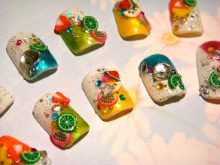 Arte Nail Art Japones Arte Nail Art Japones Japanese Fruit Nails 5