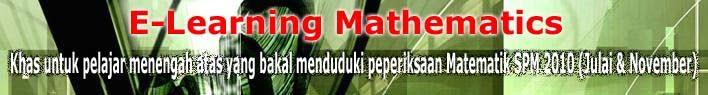 Blog untuk belajar Matematik SPM