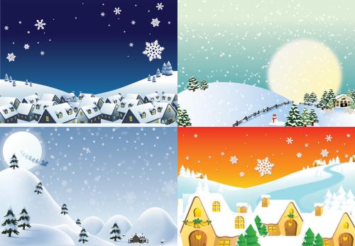 Tons of Christmas Scenes Winter Wallpaper Desktop Nexus