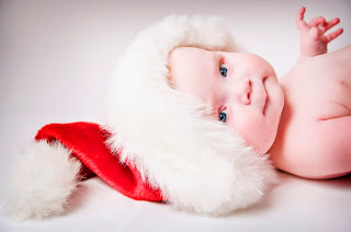 Cute Baby Santa Wallpaper