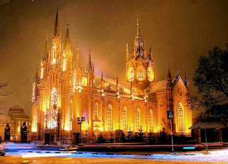 cathedral christmas picture wallpaper