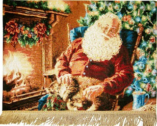 sleeping santa cartoon