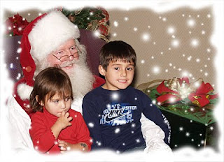 Santa With Kids Wallpaper