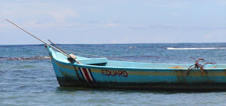 Blue Costa Rica Fishing Boat