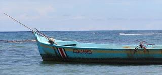 Blue Costa Rica Fishing Boat