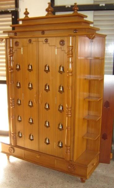 Chippendale Bangalore Pooja Cabinet