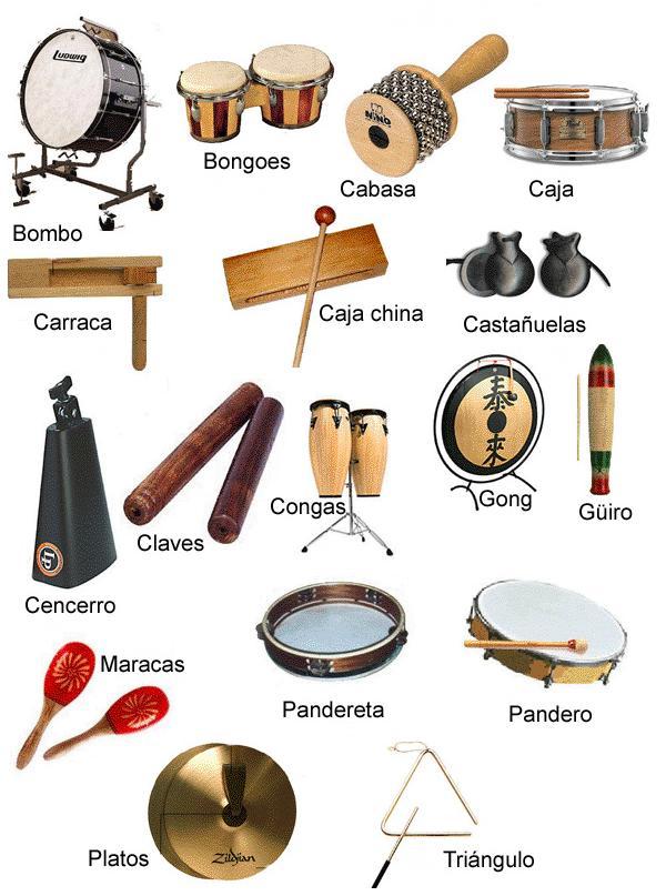 instrumentos de percusion. Un instrumento de percusión