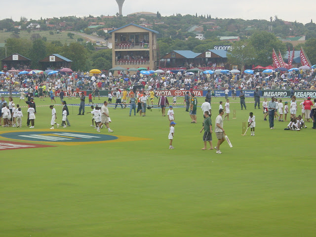 The picture is from a cricket match between South Africa and Sri Lanka at SuperSport Park in Centurion in December of 2003, which is still a much more fan oriented venue than its bigger brother down the drag in Illovo, Johannesburg.