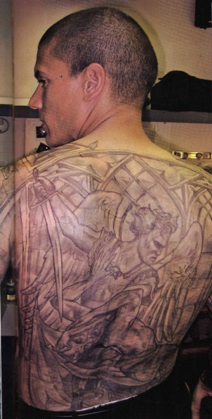 Michael Schofield with Blue Print Tattoo, Prison Break TV Series Poster: