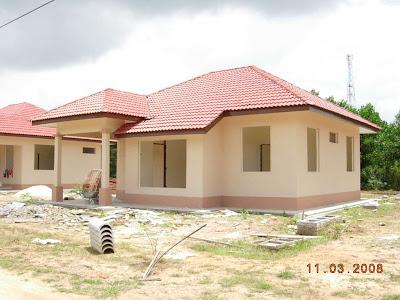 Bentuk Gambar Rumah on Anda     Gambar Terkini Projek Rumah Banglo Di Kg Chawas  Tanah Merah