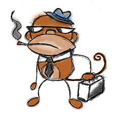 executive monkey cartoon