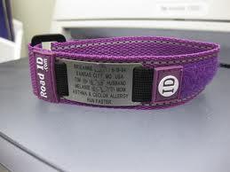 ponderings by andrea road id wrist id bracelet product