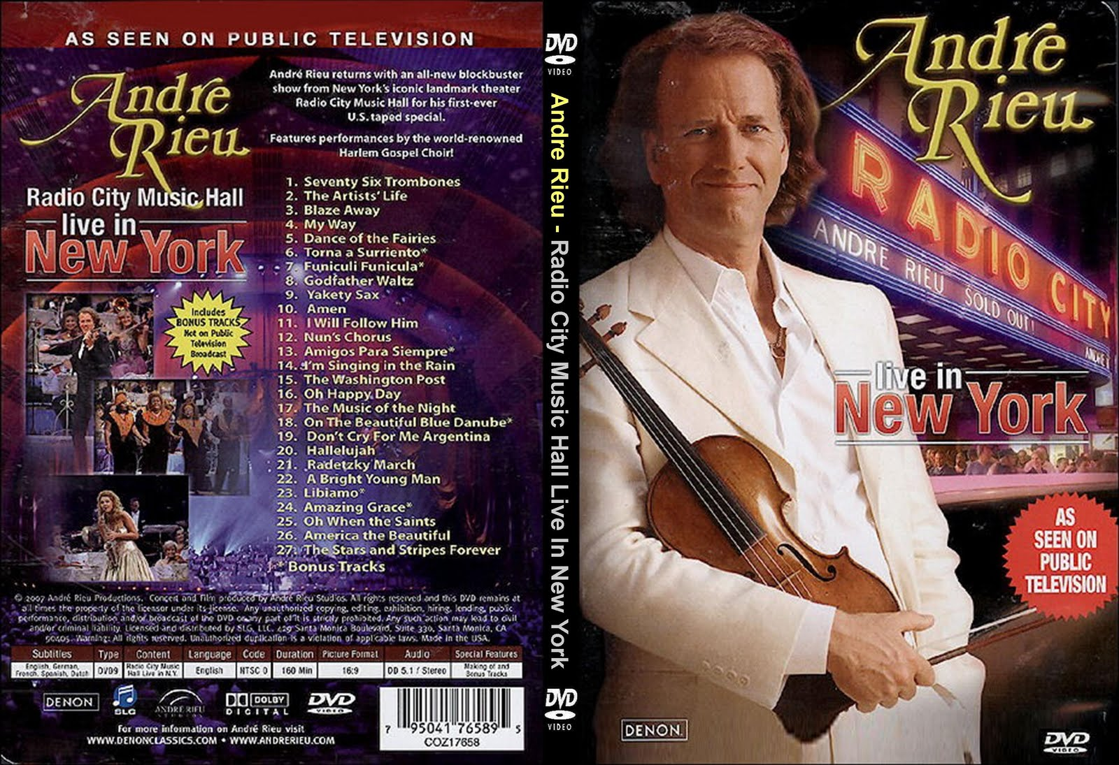 Andre Rieu - Radio City Music Hall - Live in New York