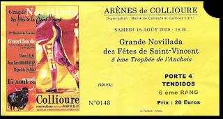 Collioure, novillada du 15 août